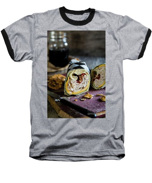 Baseball T-Shirt featuring the photograph Turkey Bacon Wrap 1 by Deborah Klubertanz