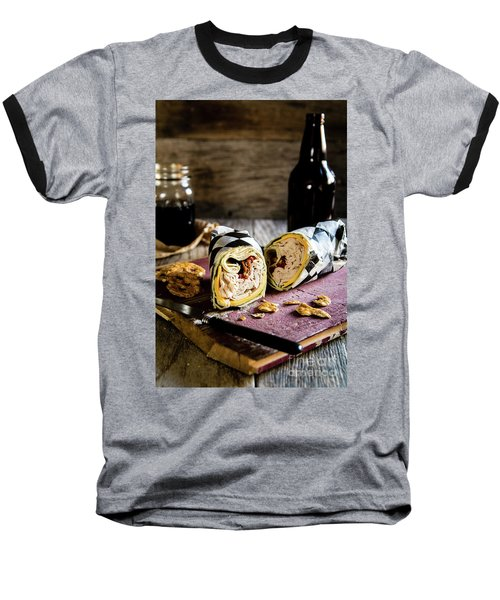 Baseball T-Shirt featuring the photograph Turkey Bacon Wrap 2 by Deborah Klubertanz