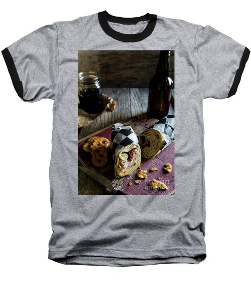 Baseball T-Shirt featuring the photograph Turkey Bacon Wrap 3 by Deborah Klubertanz