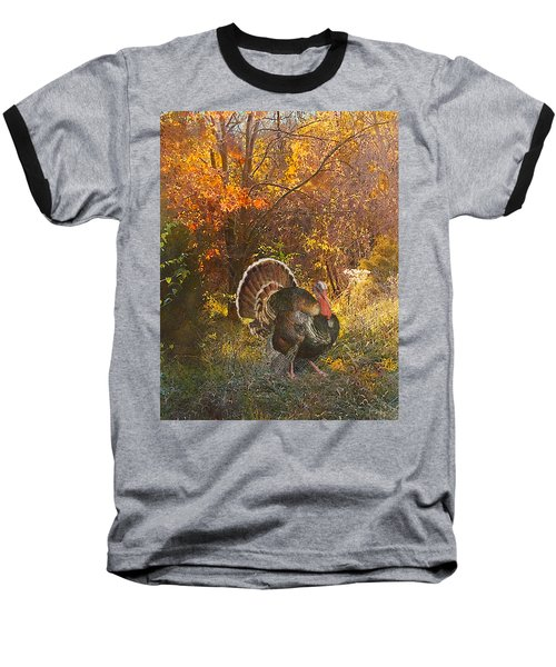 Turkey In The Woods Baseball T-Shirt