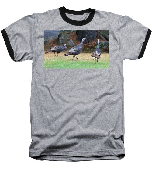 Turkey Trio Baseball T-Shirt