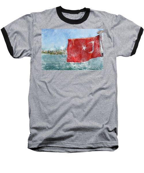 Turkish Flag Baseball T-Shirt