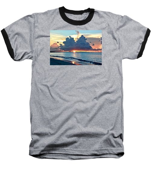 Turks And Caicos Grace Bay Beach Sunset Baseball T-Shirt