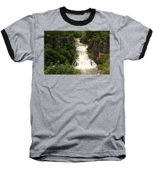Turner Falls Waterfall Baseball T-Shirt