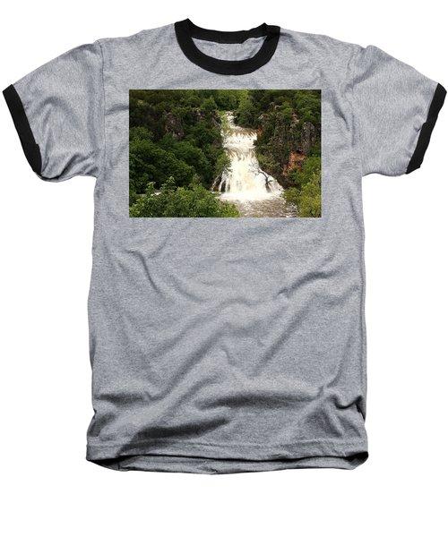 Turner Falls Waterfall Baseball T-Shirt