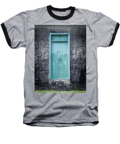 Turquoise Door Baseball T-Shirt