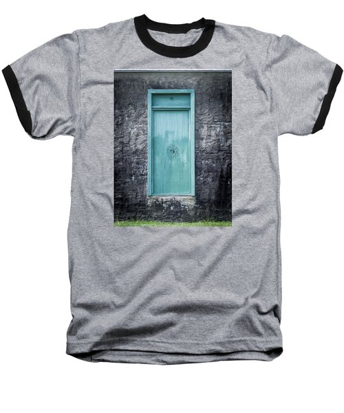 Turquoise Door Baseball T-Shirt