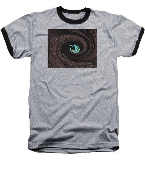 Turquoise  Baseball T-Shirt by Joan Hartenstein