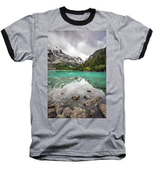 Baseball T-Shirt featuring the photograph Turquoise Lake In The Mountains by Pierre Leclerc Photography
