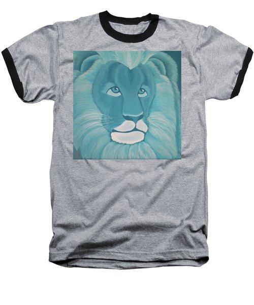 Turquoise Lion Baseball T-Shirt
