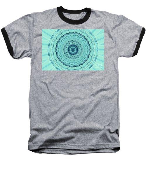 Turquoise Serenade Baseball T-Shirt by Sheila Ping