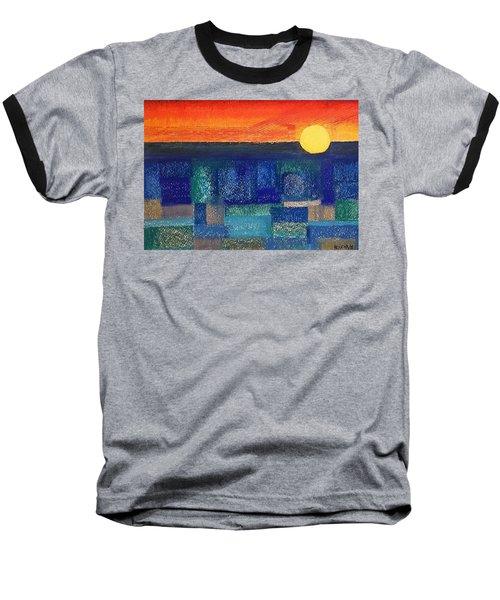 Turquoise Sunset Baseball T-Shirt