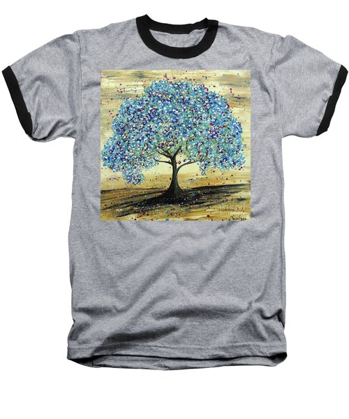 Turquoise Tree Baseball T-Shirt