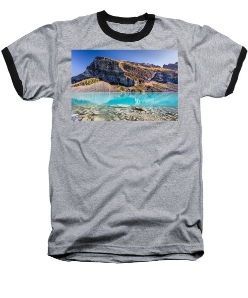 Baseball T-Shirt featuring the photograph Turquoise Water Of The Scenic Lake Louise by Pierre Leclerc Photography