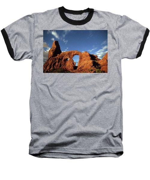 Turret Arch In The Moonlight Baseball T-Shirt