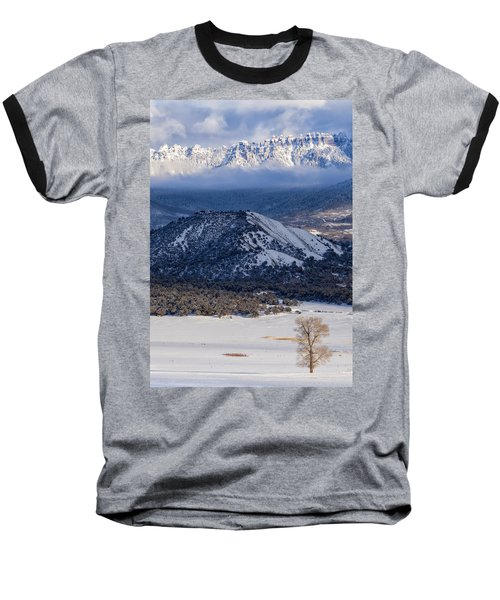 Turret Ridge In Winter Baseball T-Shirt