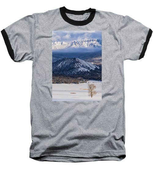 Turret Ridge In Winter Baseball T-Shirt