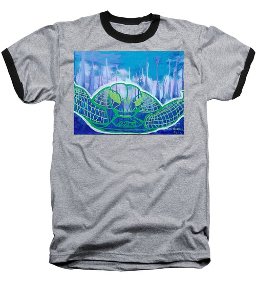 Turtle Baseball T-Shirt by Andres Pola