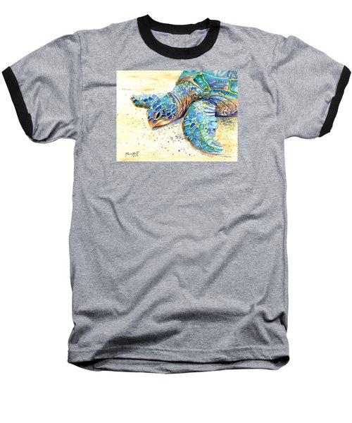 Turtle At Poipu Beach 4 Baseball T-Shirt