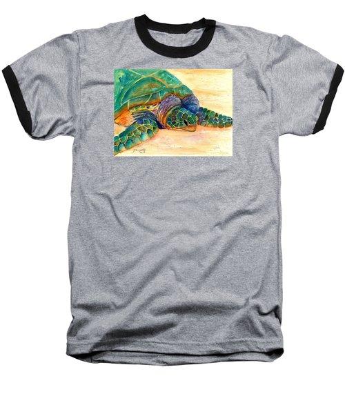 Turtle At Poipu Beach 7 Baseball T-Shirt by Marionette Taboniar