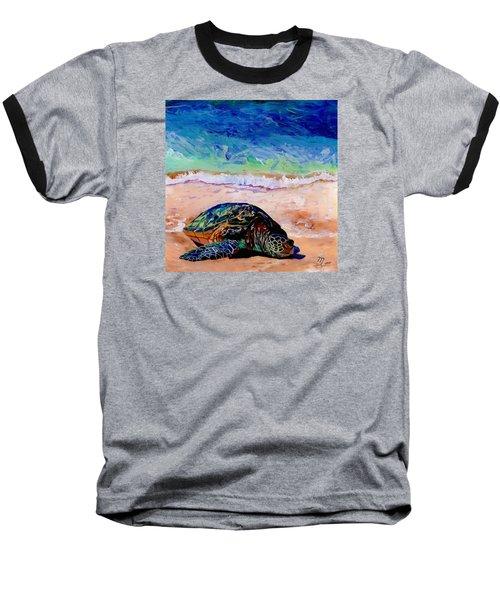 Turtle At Poipu Beach 9 Baseball T-Shirt