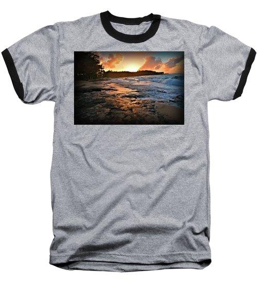 Turtle Bay Sunset 1 Baseball T-Shirt