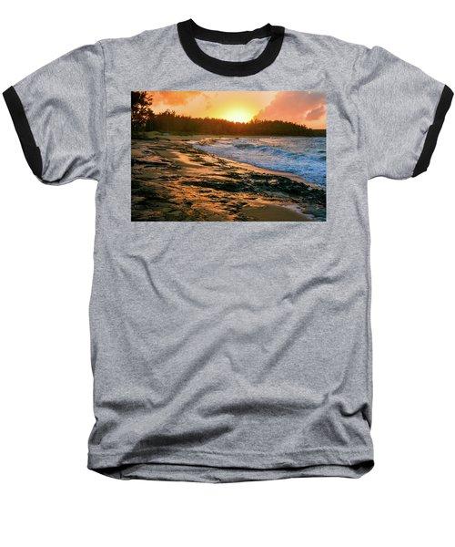 Turtle Bay Sunset 2 Baseball T-Shirt