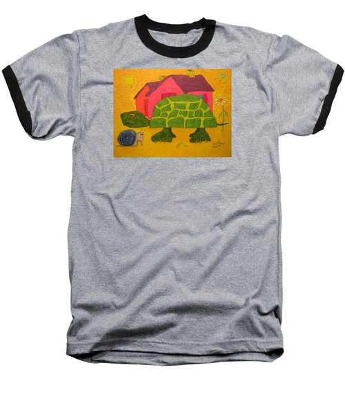 Turtle In Neighborhood Baseball T-Shirt
