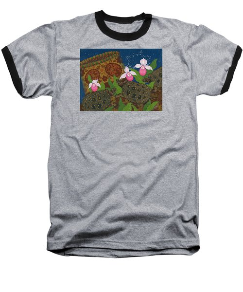 Baseball T-Shirt featuring the painting Turtle - Mihkinahk by Chholing Taha