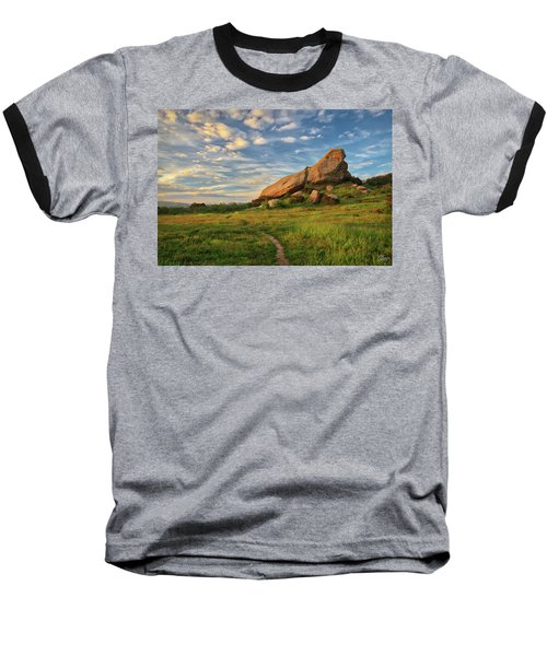 Turtle Rock At Sunset Baseball T-Shirt