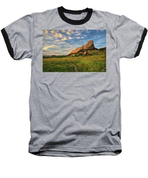 Turtle Rock At Sunset Baseball T-Shirt