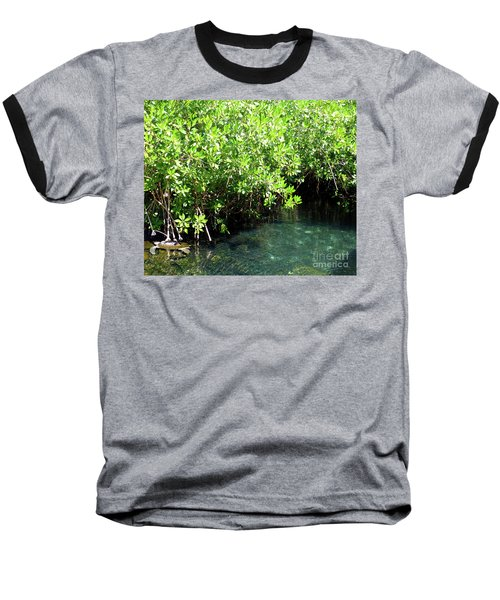 Baseball T-Shirt featuring the photograph Turtle Swim by Francesca Mackenney