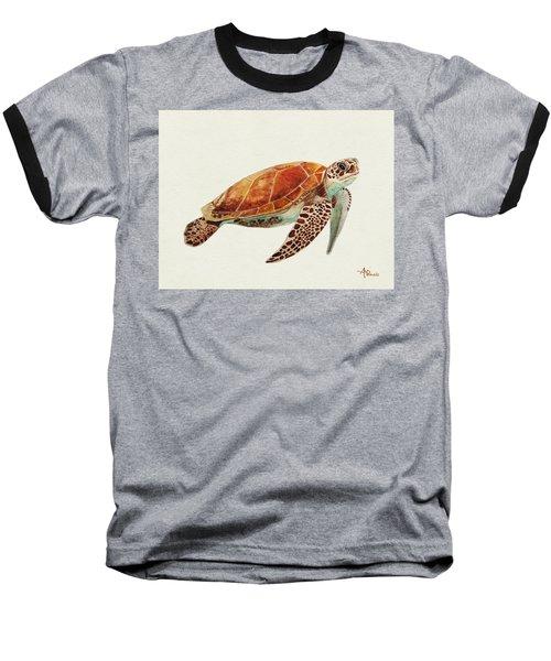 Turtle Watercolor Baseball T-Shirt