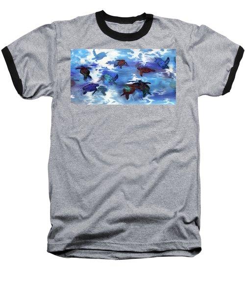 Turtles In Heaven Baseball T-Shirt