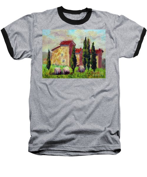 Tuscan House With Hay Baseball T-Shirt