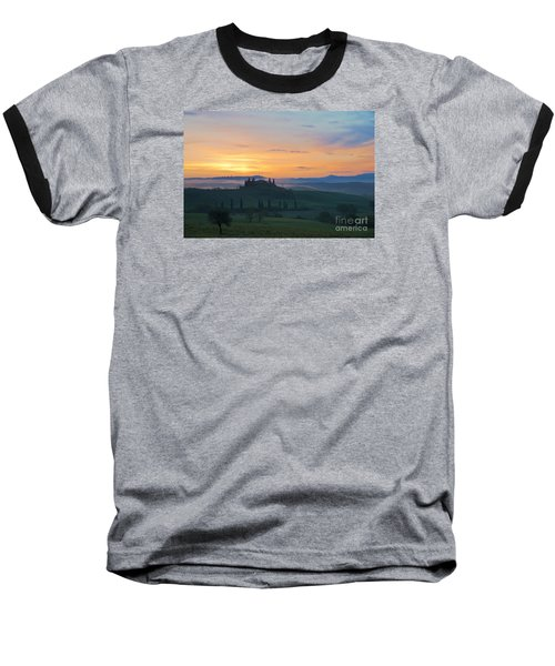 Tuscan Morning Baseball T-Shirt by Yuri Santin