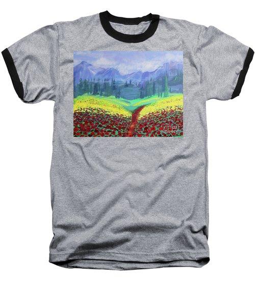 Tuscan Poppies Baseball T-Shirt