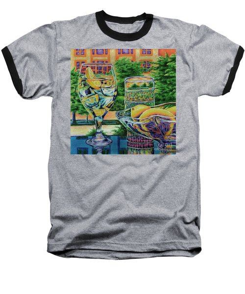 Baseball T-Shirt featuring the drawing Tuscan Summer Lemonade  by Peter Piatt