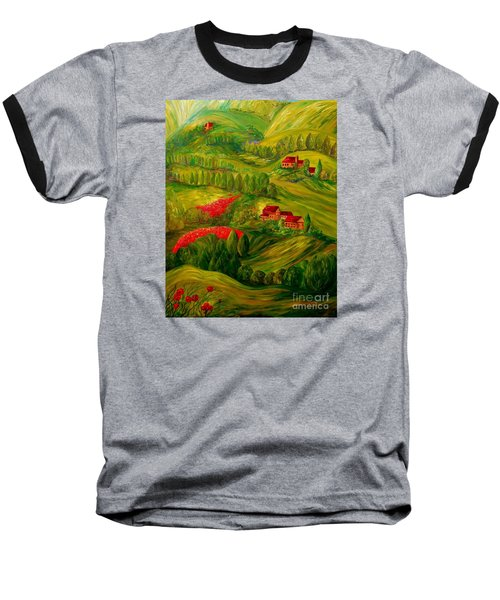 Tuscany At Dawn Baseball T-Shirt by Eloise Schneider