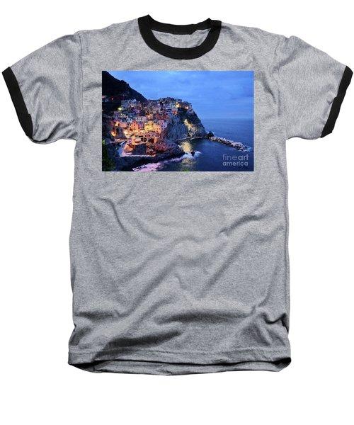 Tuscany Like Amalfi Cinque Terre Evening Lights Baseball T-Shirt