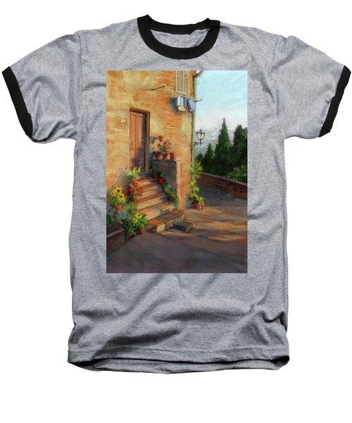 Baseball T-Shirt featuring the painting Tuscany Morning Light by Vikki Bouffard