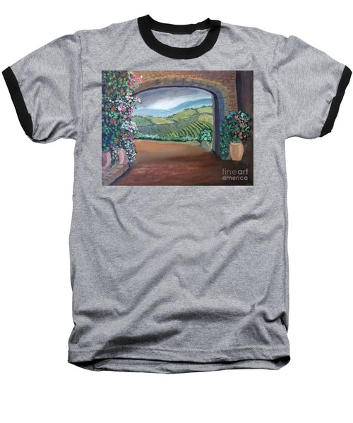 Tuscany Vineyards Through The Archway Baseball T-Shirt