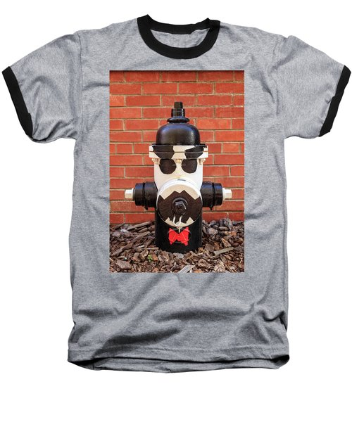 Baseball T-Shirt featuring the photograph Tuxedo Hydrant by James Eddy