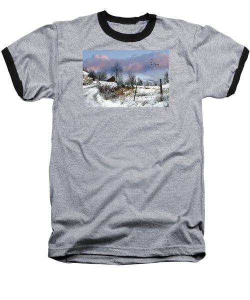 Twain's Barn Baseball T-Shirt by Ed Hall