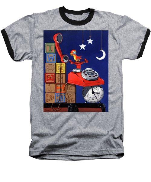 Tweets -narrative Painting Baseball T-Shirt by Linda Apple