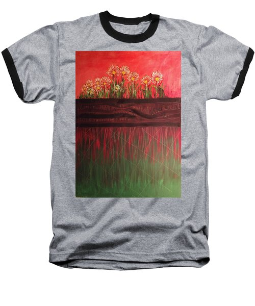 Twelve Daises In Window Box Baseball T-Shirt