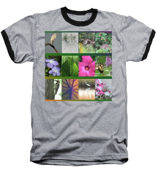 Baseball T-Shirt featuring the photograph Twelve Months Of Nature by Peg Toliver