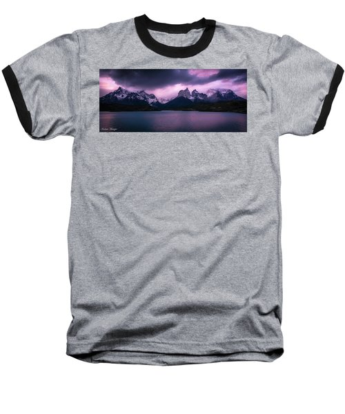 Baseball T-Shirt featuring the photograph Twilight Over The Lake by Andrew Matwijec