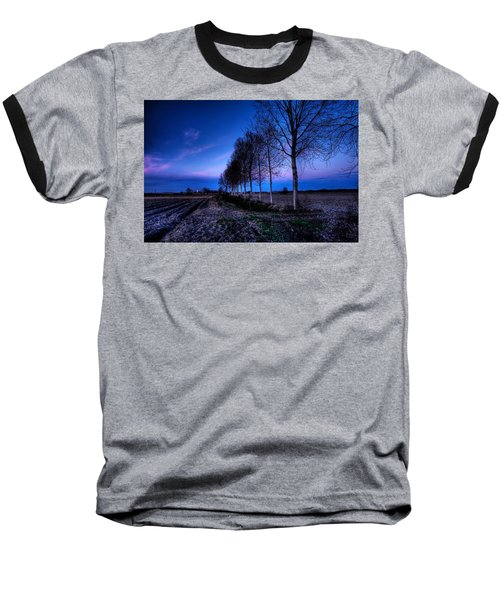 Twilight And Trees Baseball T-Shirt