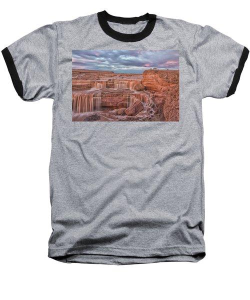 Twilight At Chocolate Falls Baseball T-Shirt by Tom Kelly